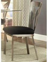 Helena Metal Square Back Side Chair in Satin Plated Orren Ellis