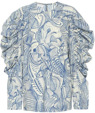 Dries Van Noten Printed cotton blouse