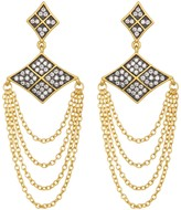 Freida Rothman 14K Gold Plated Sterling Silver Contemporary Deco Chain Drop Earrings