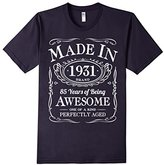 Men's 85th Birthday Gift Made In 1931 Awesome Black (Fitted) Large