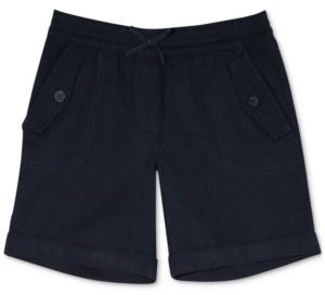 Nautica Big Girls Cuffed Twill Shorts