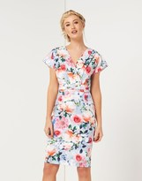 Paper Dolls Floral Print Wrap Midi Dress