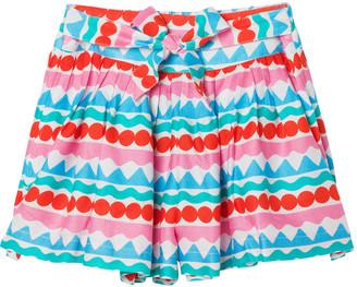 Stella McCartney Girl's Printed Crepe Self-Tie Shorts, Size 4-14