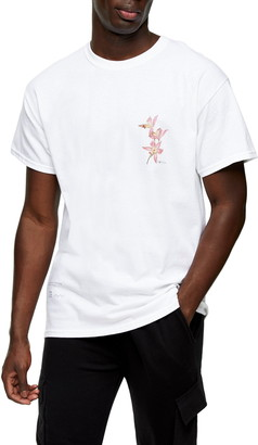 Topman Twin Lily Graphic Tee