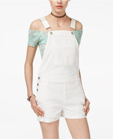 American Rag Juniors' Cuffed Denim Shortalls, Created for Macy's