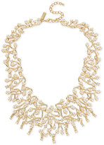 INC International Concepts M. Haskell for Gold-Tone Imitation Pearl and Crystal Statement Necklace, Created for Macy's