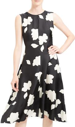 Theory Nophella Sleeveless Silk Petal Dress