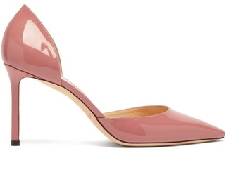 Jimmy Choo Esther 85 Patent-leather D'orsay Pumps - Womens - Pink