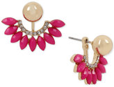 INC International Concepts M. Haskell for Gold-Tone Pave, Colored Stone & Imitation Pearl Ear Jacket Earrings, Only at Macy's