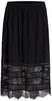 Vila Long Skirt with Lace Detail