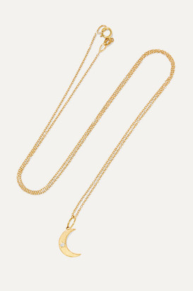 Andrea Fohrman Crescent Moon 18-karat Gold Opal Necklace - one size