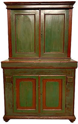 One Kings Lane Vintage 19th-C. French Painted Grain Cabinet - Von Meyer Ltd.