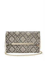 GUESS Sandra Straw Clutch