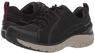 Clarks Go (Black Nubuck/Leather Combi) Women's Lace up casual Shoes