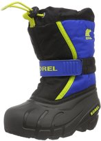 Sorel Childrens Flurry (Tod/Yth) - Black/Super Blue - 11 Toddler