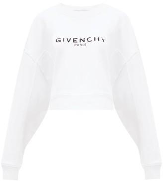 Givenchy Oversized Distressed-logo Cotton-jersey Sweatshirt - White
