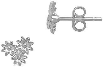 Sterling Forever Silvertone Multi-Flower Stud Earrings