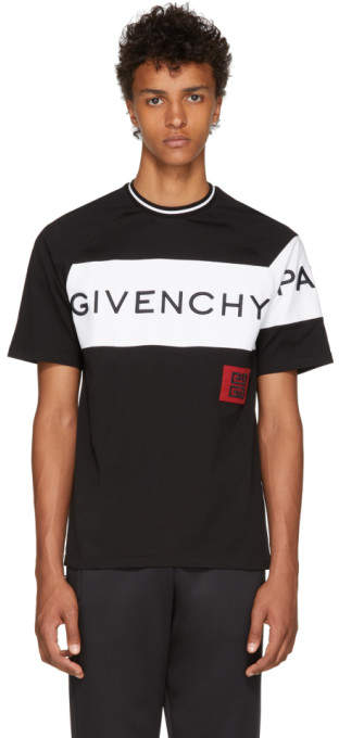 Givenchy Black and White 4G Patch T-Shirt