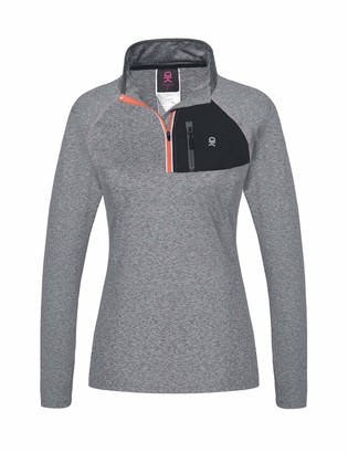 Equipment Little Donkey Andy Women's Long Sleeve Running Shirts Workout Gym Sports T-Shirt Quick Dry Deep Grey Heather Size S
