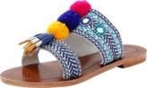 Antik Batik Pom Pom Slide Sandal