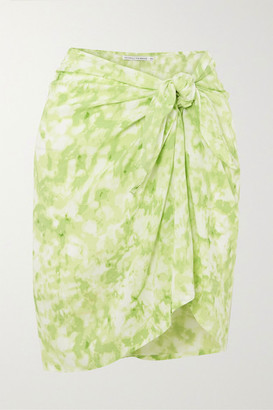 Faithfull The Brand Net Sustain Tie-dyed Voile Pareo - Lime green