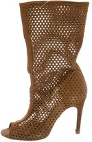 Pedro Garcia Suede Cutout Ankle Boots