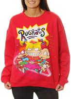 Asstd National Brand Nickelodeon Juniors' Rugrats Group Shot Neon Crewneck Graphic Sweatshirt