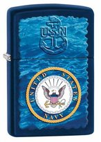 Zippo Navy Navy Matte Outdoor Indoor Windproof Lighter Free Custom Personalized Engraved Message Permanent Lifetime Engraving on Backside