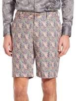 Robert Graham Lake Havasu Paisley Printed Linen Shorts