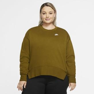 Nike Women's Fleece Crew (Plus Size Sportswear Club