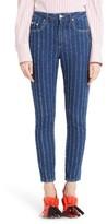 MSGM Women's Stripe High Waist Jeans