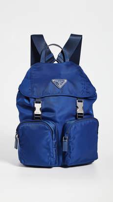What Goes Around Comes Around Prada Blue Nylon Backpack