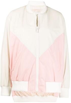 Yves Salomon Colour-Block Zipped Jacket