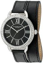 Stuhrling Original Women's 587.02 Deauville Analog Display Quartz Black Watch