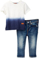 7 For All Mankind Tee & Pant 2-Piece Set (Baby Boys)
