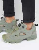 Reebok Instapump Fury Trainers In Green Bd1501