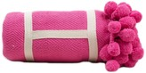 The Well Appointed House Pom Pom Throw in Pink - IN STOCK IN OUR GREENWICH STORE FOR QUICK SHIPPING