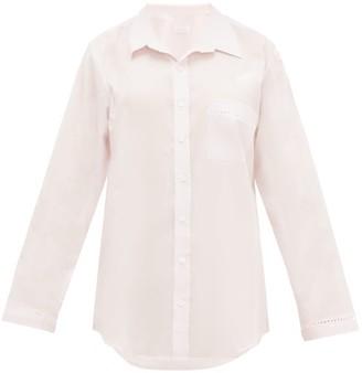 POUR LES FEMMES Crochet-insert Cotton-voile Nightshirt - Pink