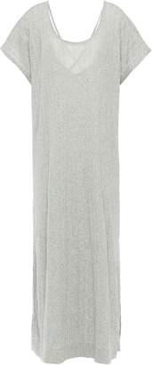 Melange Home Skin Cutout Ribbed Cotton-jersey Nightdress