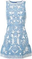 Alice + Olivia Alice+Olivia - embroidered denim dress - women - Cotton - 2
