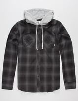 Element Turner Mens Hooded Flannel Shirt