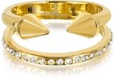 Vita Fede Ultra Mini Gold Tone Titan Band Ring w/Crystals