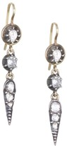 Renee Lewis 18K Yellow Gold, Sterling Silver & Antique Diamond Drop Earrings