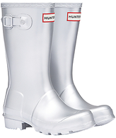 Hunter Children's Original Wellington Boots, Silver