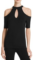 GUESS Janell Cold Shoulder Keyhole Top