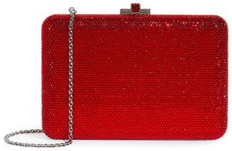 Judith Leiber Crystal-Embellished Slim Slide Clutch Bag