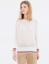 Maison Scotch Striped Detailed Pullover