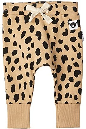 HUXBABY Animal Spot Drop Crotch Pants (Infant/Toddler) (Sand) Kid's Casual Pants