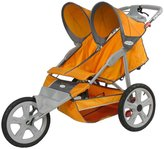 Pacific Cycle InStep Flash Fixed Wheel Double Jogger Stroller - Orange/Gray