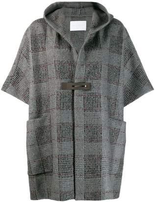 Fabiana Filippi short-sleeve hooded coat